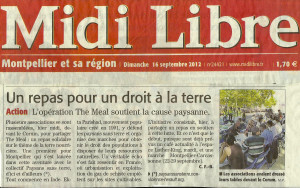 Article_MidiLibre_16sept2012_TheMeal