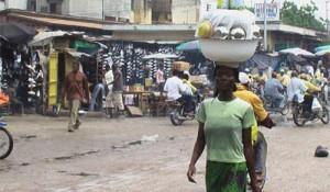 marché de friperie de Missebo.